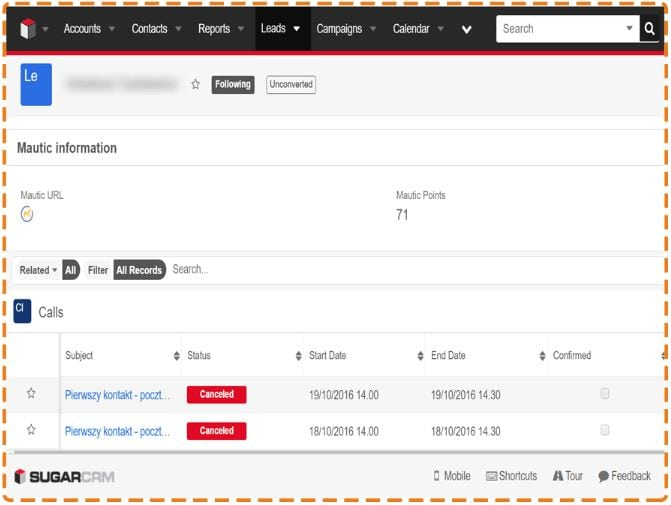 SugarCRM Mautic Integration - eVolpe Consulting Group
